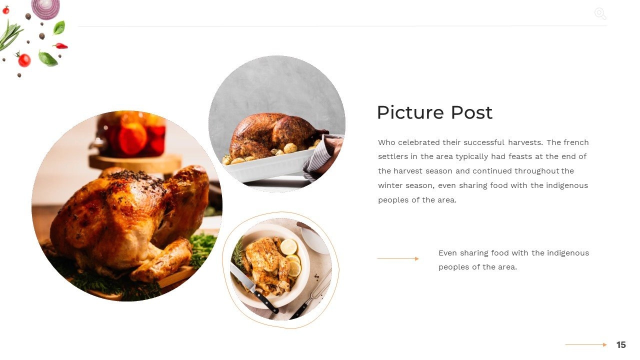 Harmonious distribution of images with text.