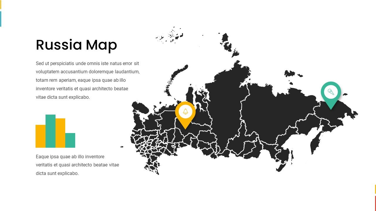 Big black Russia map.