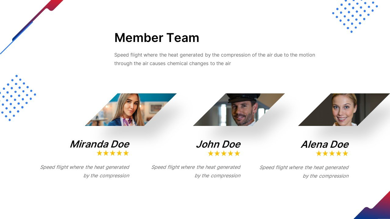 This is a great slide for getting to know the team.