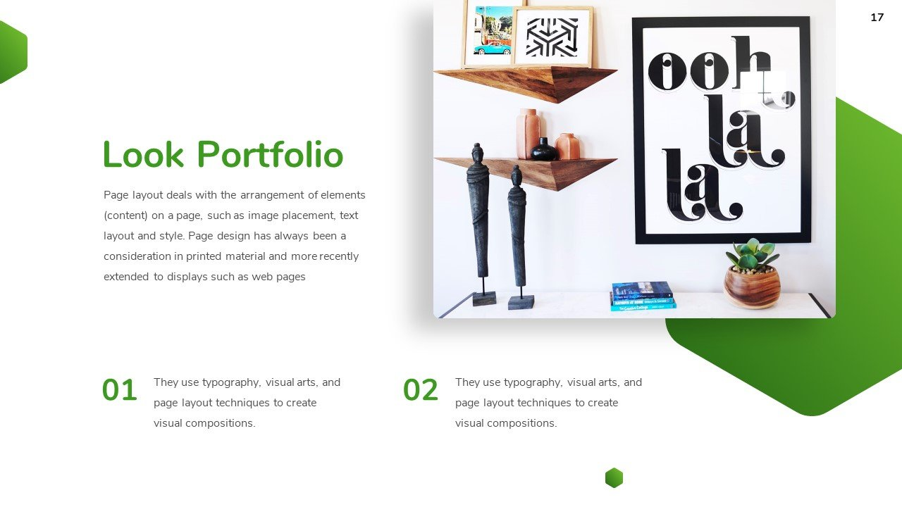 Familiarity with the portfolio can be accompanied by product descriptions.
