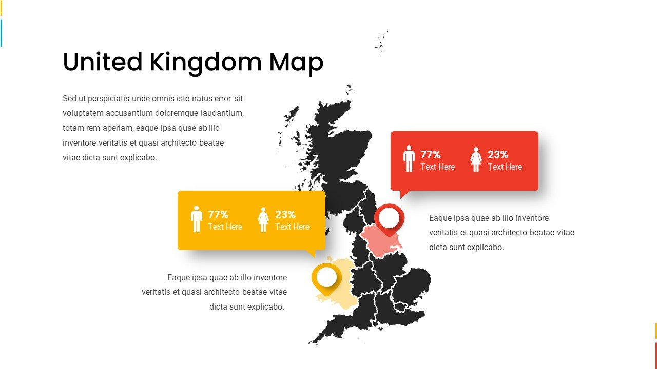 UK map with gender infographic.
