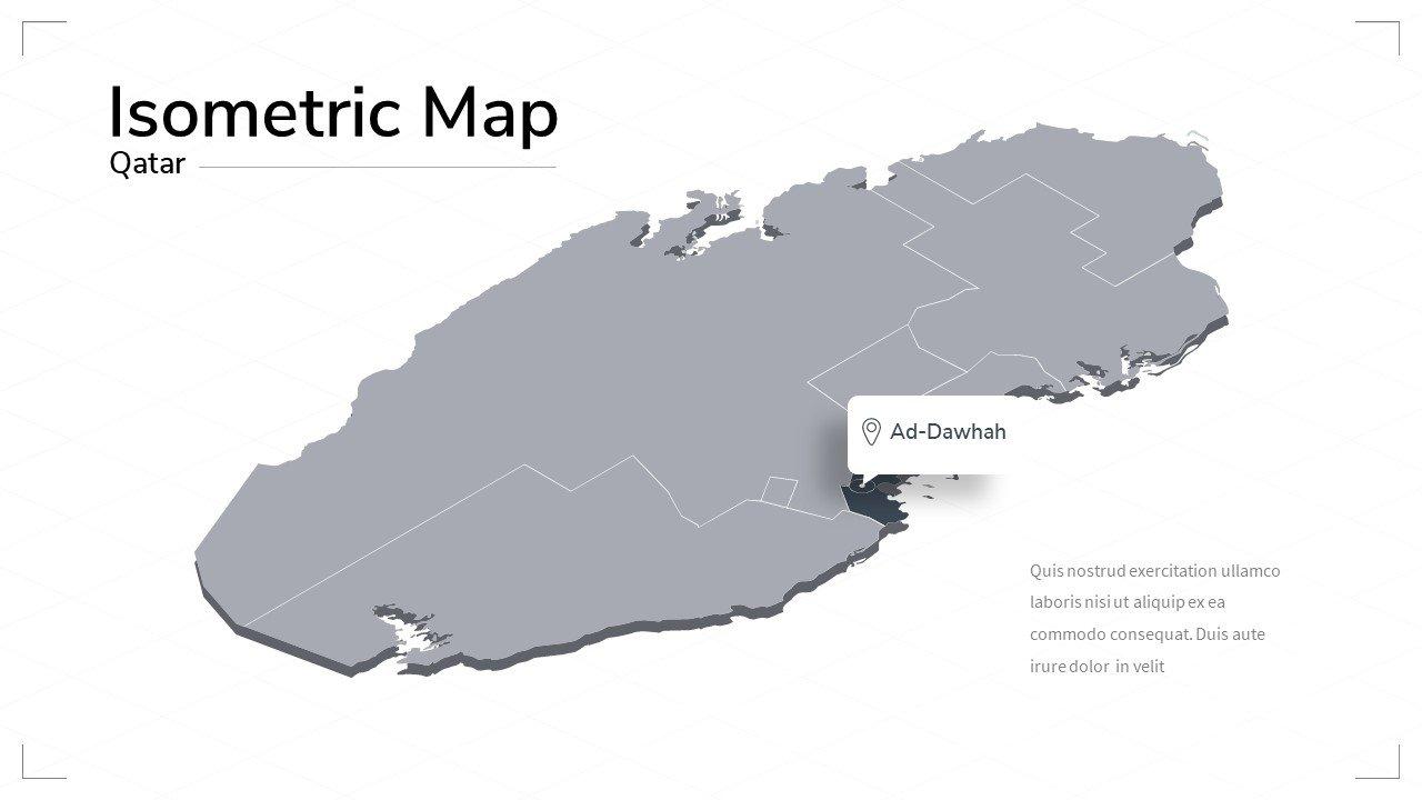 Qatar map.