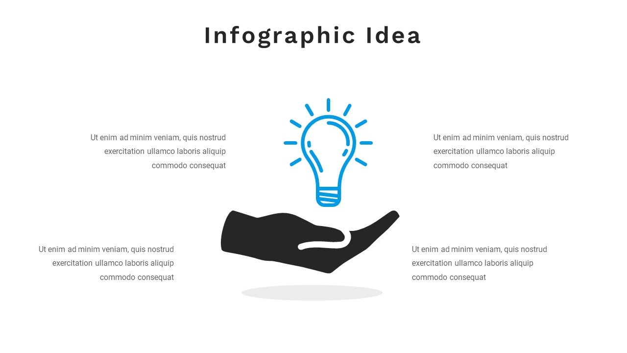 Infographics are related to think tanks and intellectual activity.