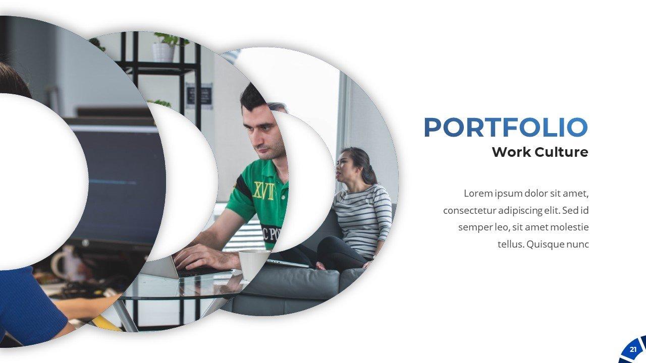 It's time for creative portfolio slide.