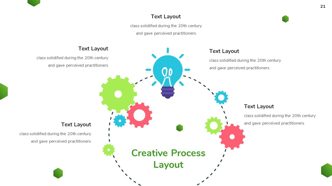 Circle graphics with icons in vibrant colors..