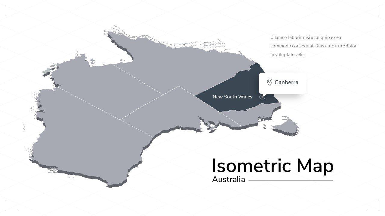 Australia map.