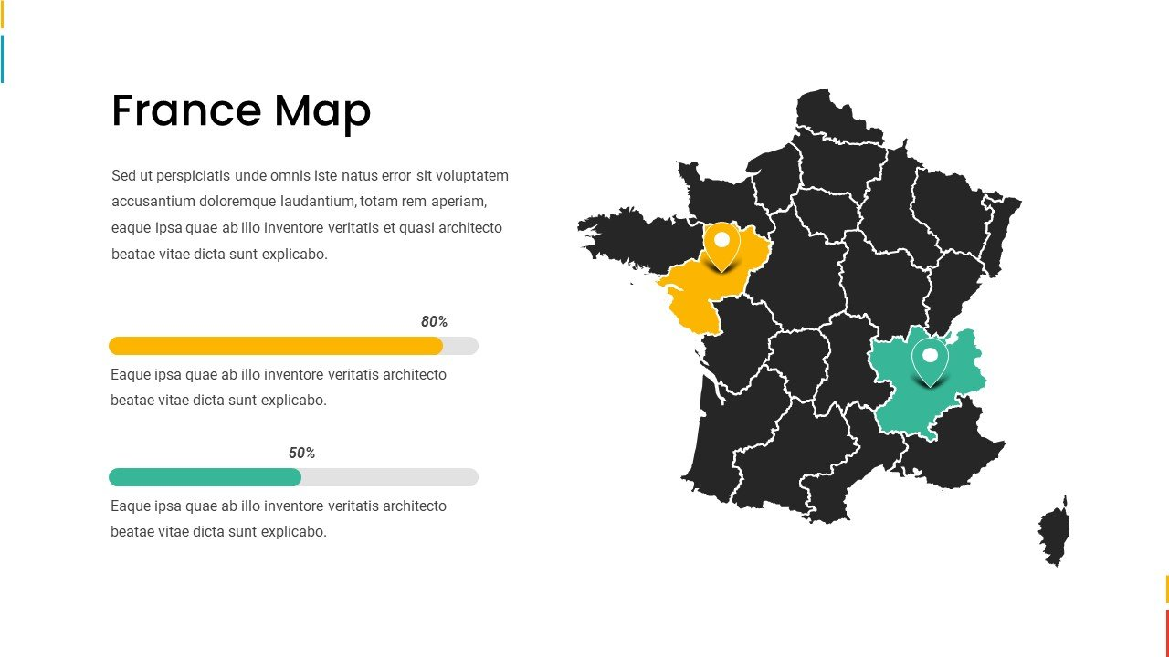 France map.