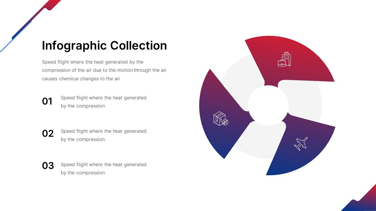 Infographics stylized as the style of the entire template.