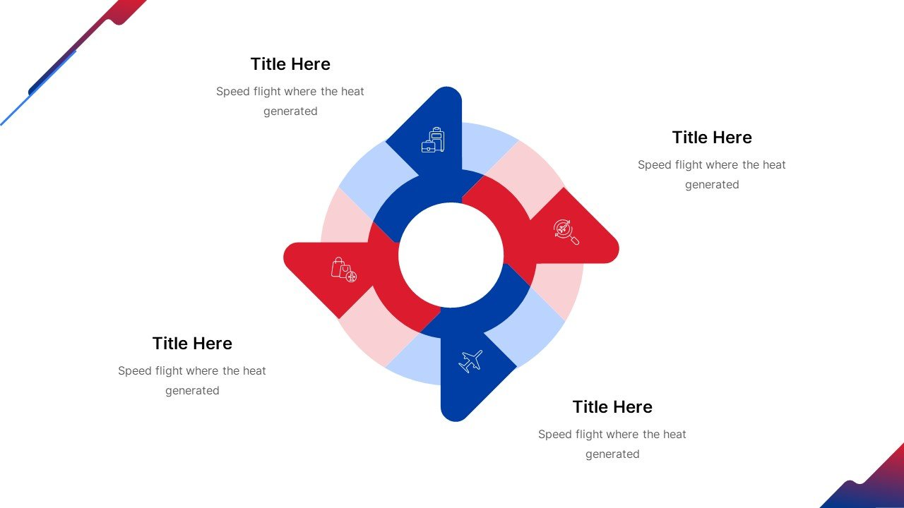 Each infographic element is like an airplane wing.