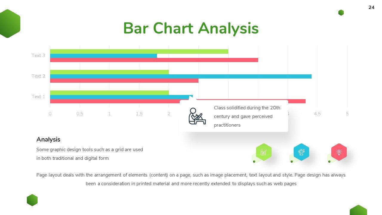 A striking chart with three criteria.