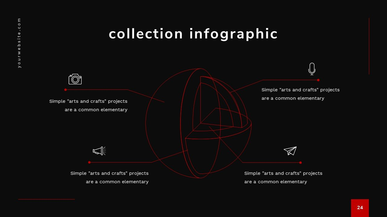 Infographics in the form of a sphere.