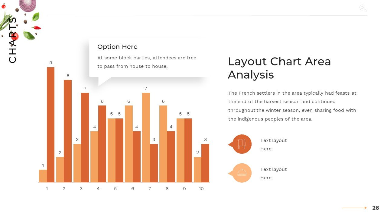 Template with orange diagram and text explanation.