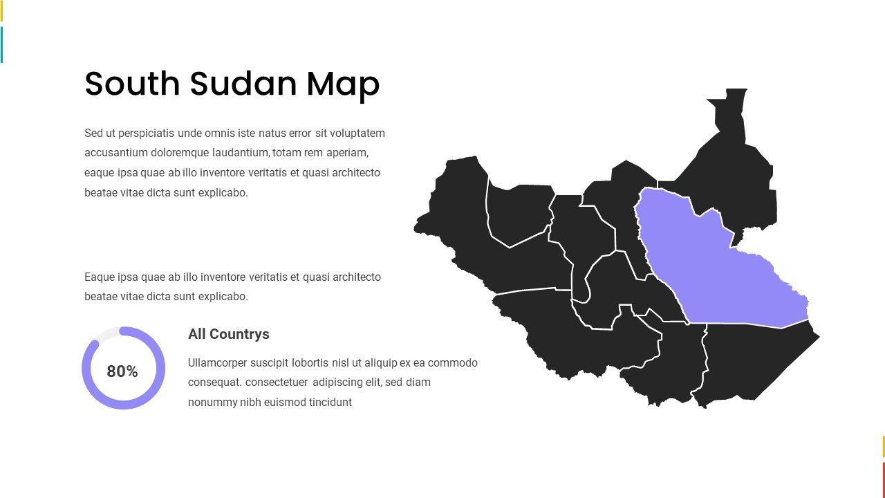 South Sudan map.
