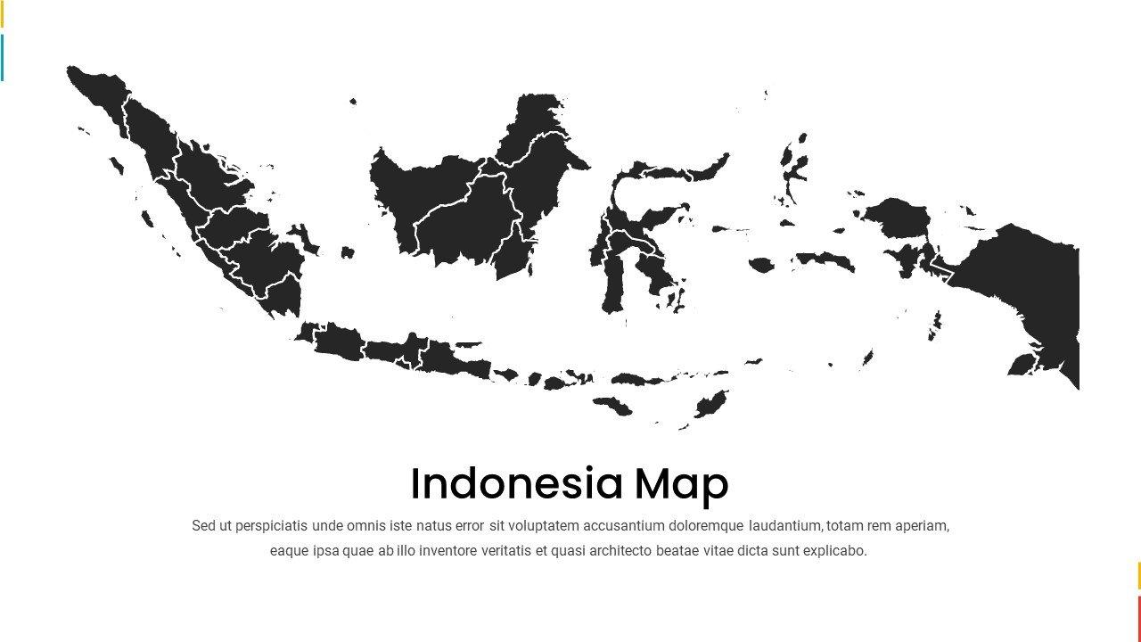 Black Indonesia map.