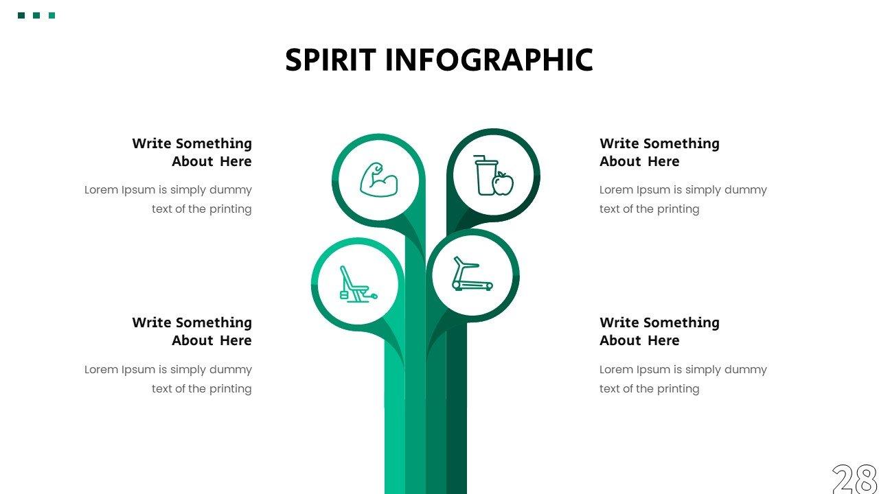 Creative infographics like bamboo pillars.