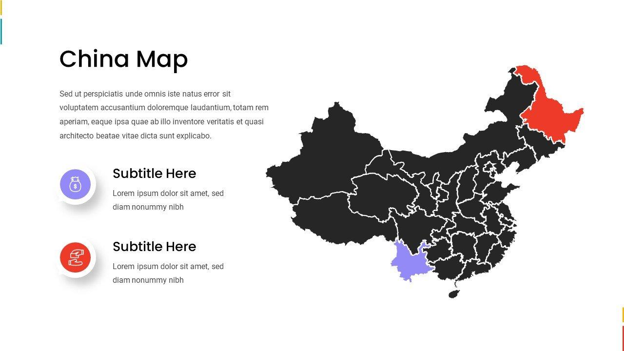 China map.