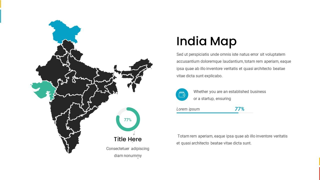 India map with infographic and text block.