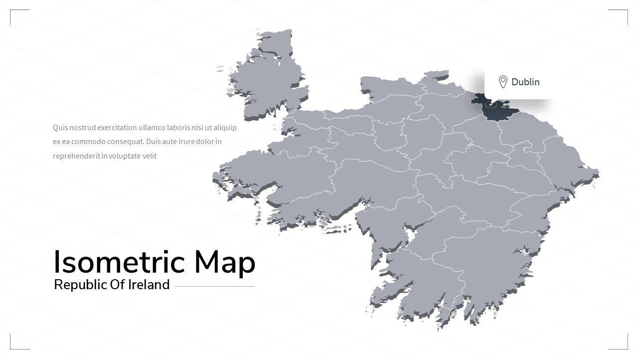 Ireland map.
