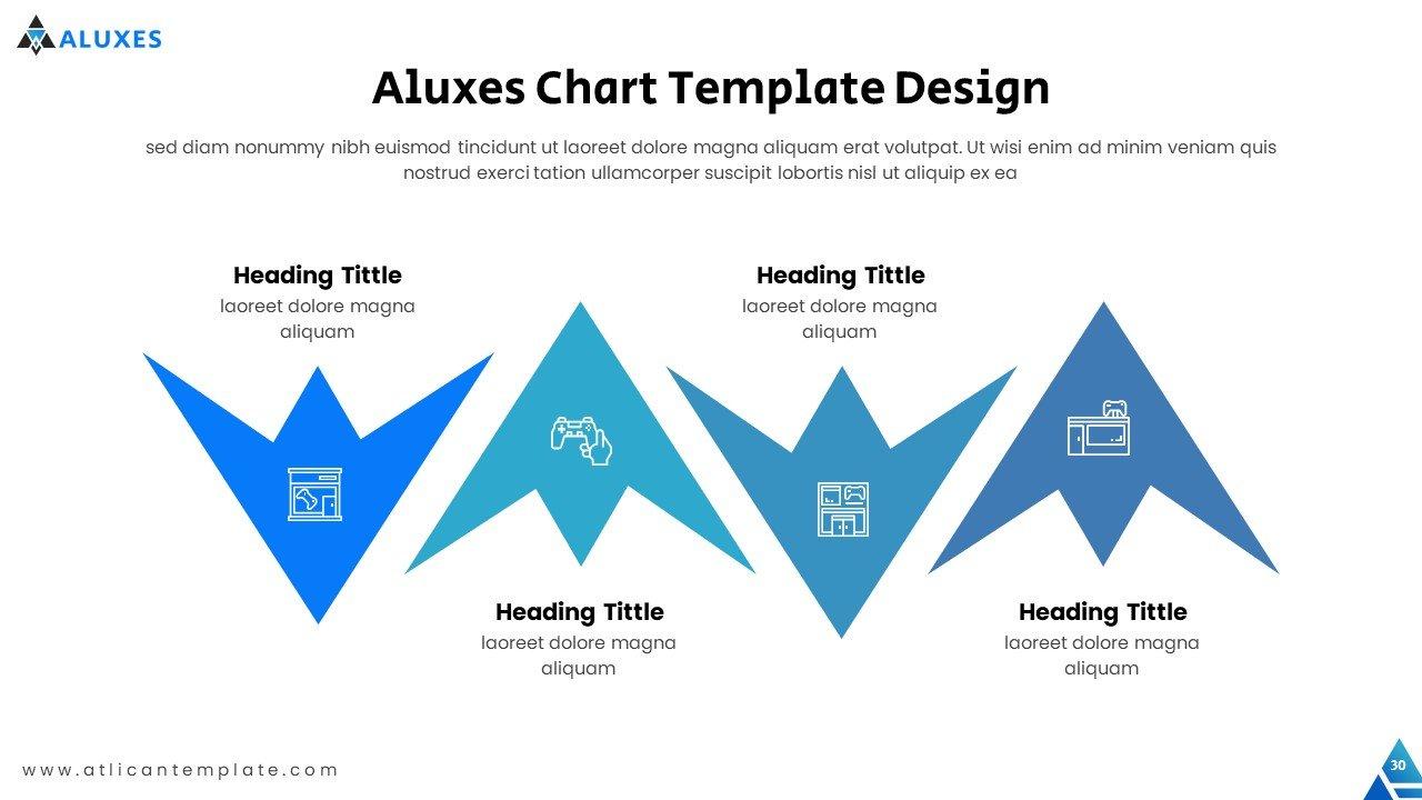 Infographics like blue birds.