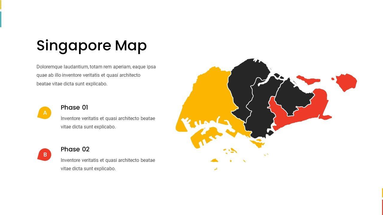 Singapore map.