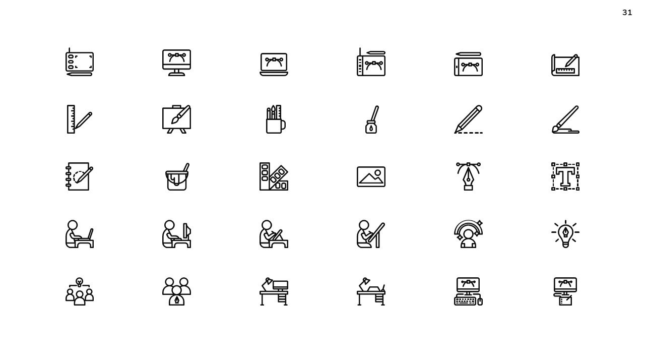 Special themed icons.