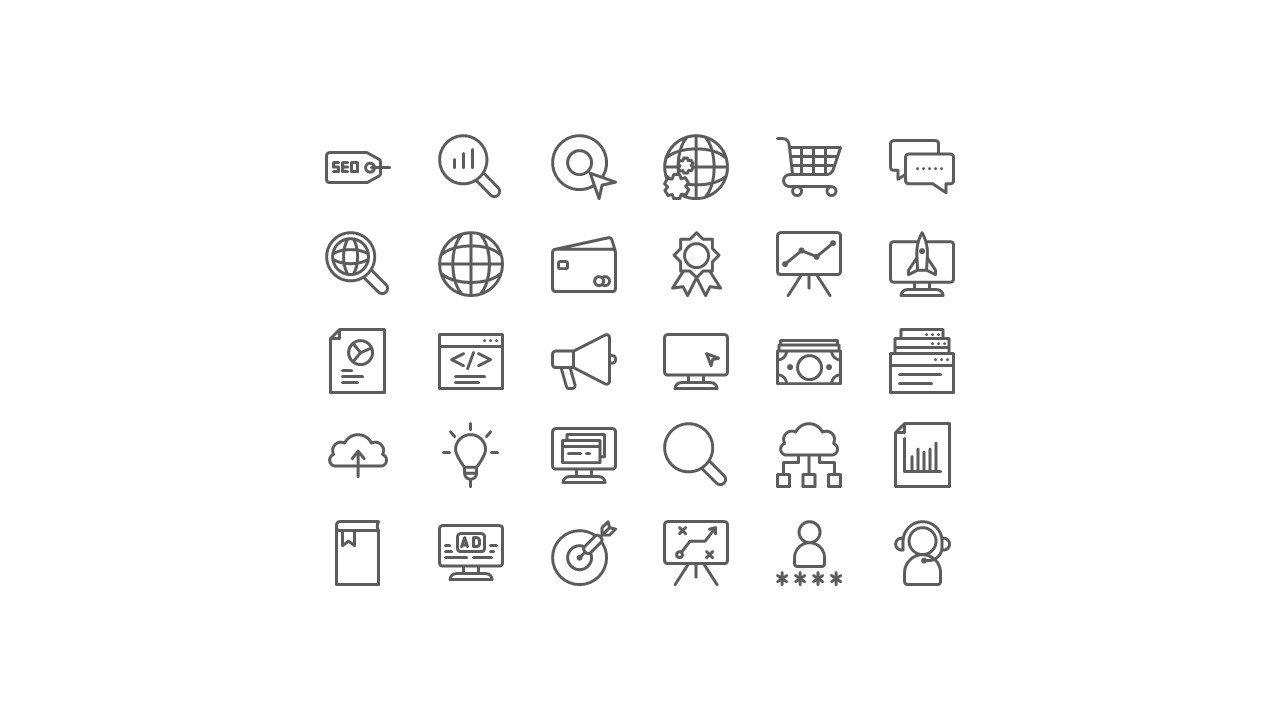 Presentation icons.