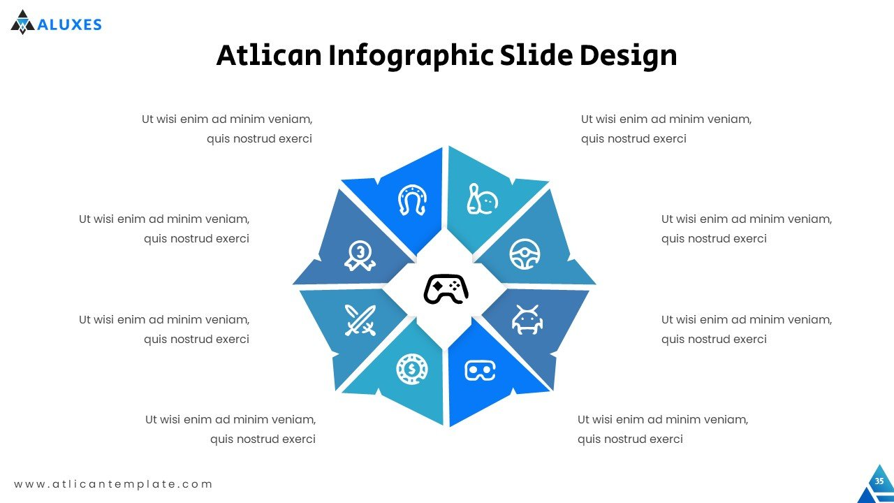 Stylish, modern infographics in blue tones.