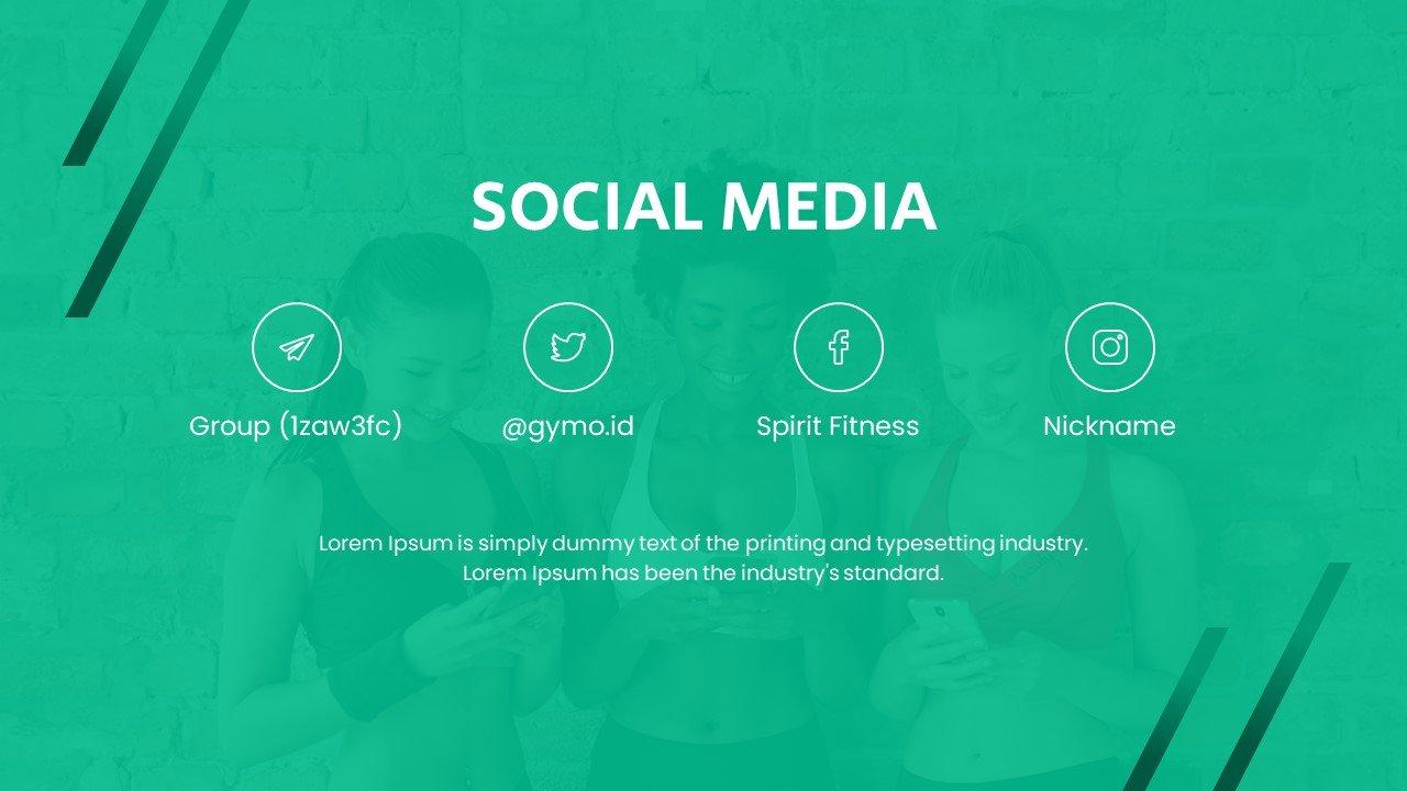 Social media slide.