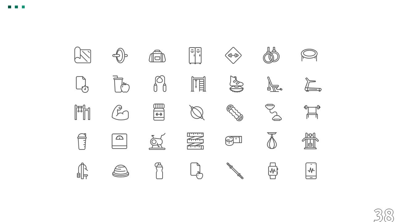 Themed template icons.
