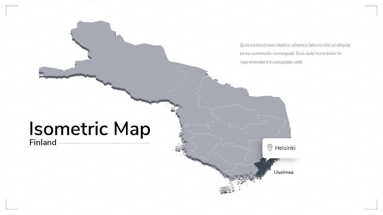 Finland isometric map.