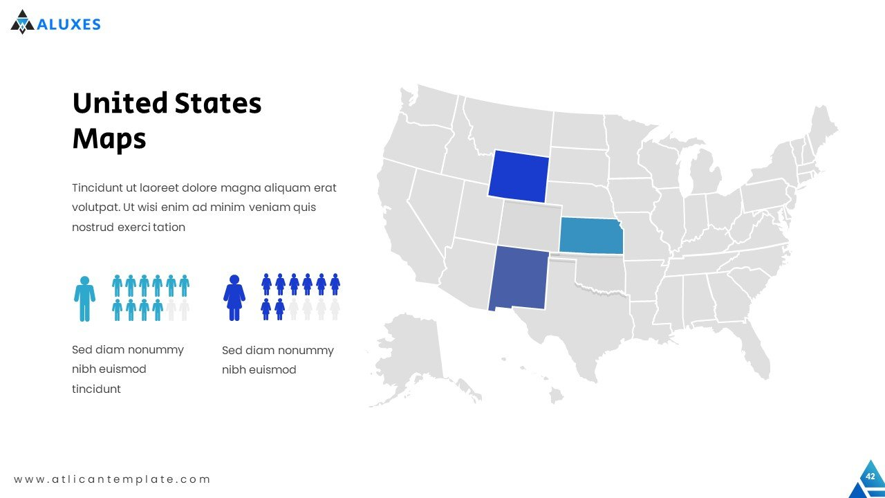 USA map with infographics in the form of people.