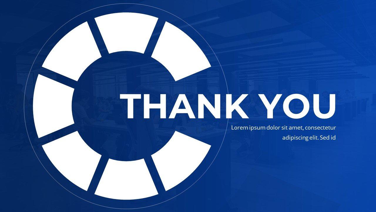 Thank you and goodbye slide.