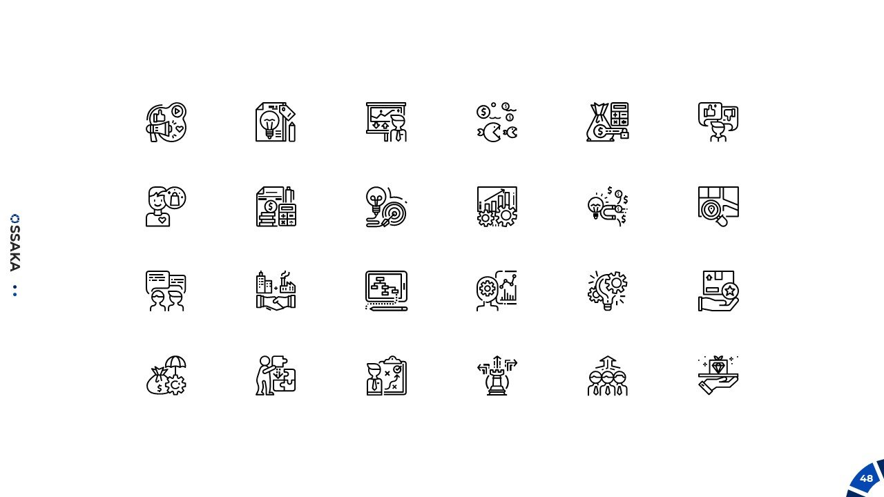 A special small icons for this template.