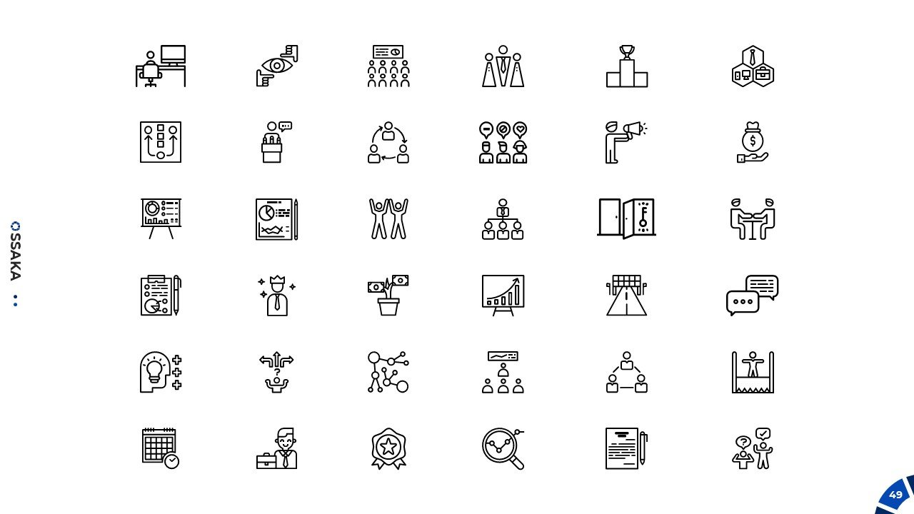 Icons for business presentation.