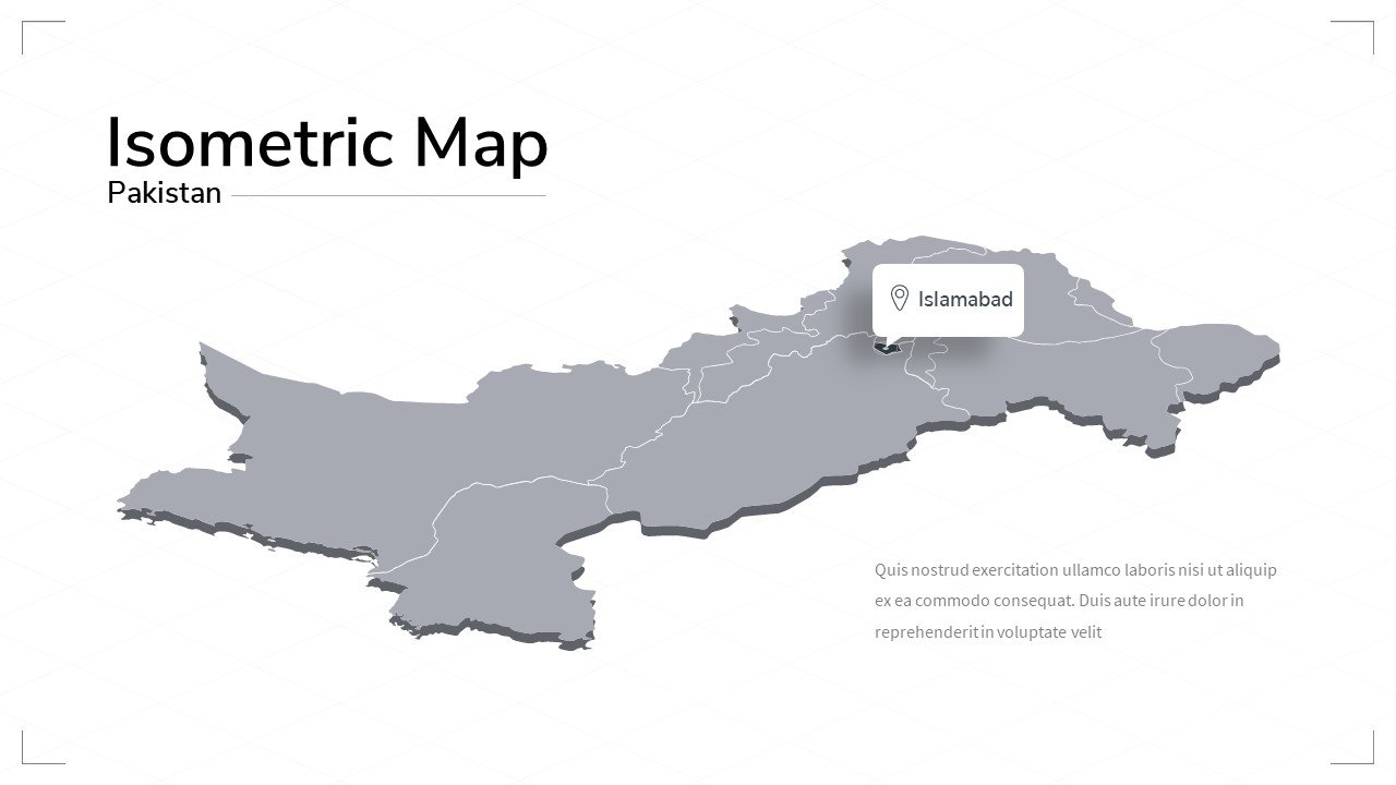 Pakistan map.