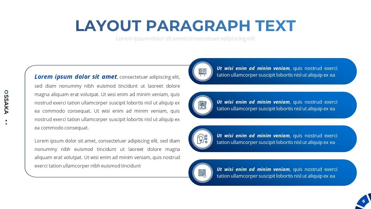 In this template, you can write information in paragraphs, filling out in a beautiful table.