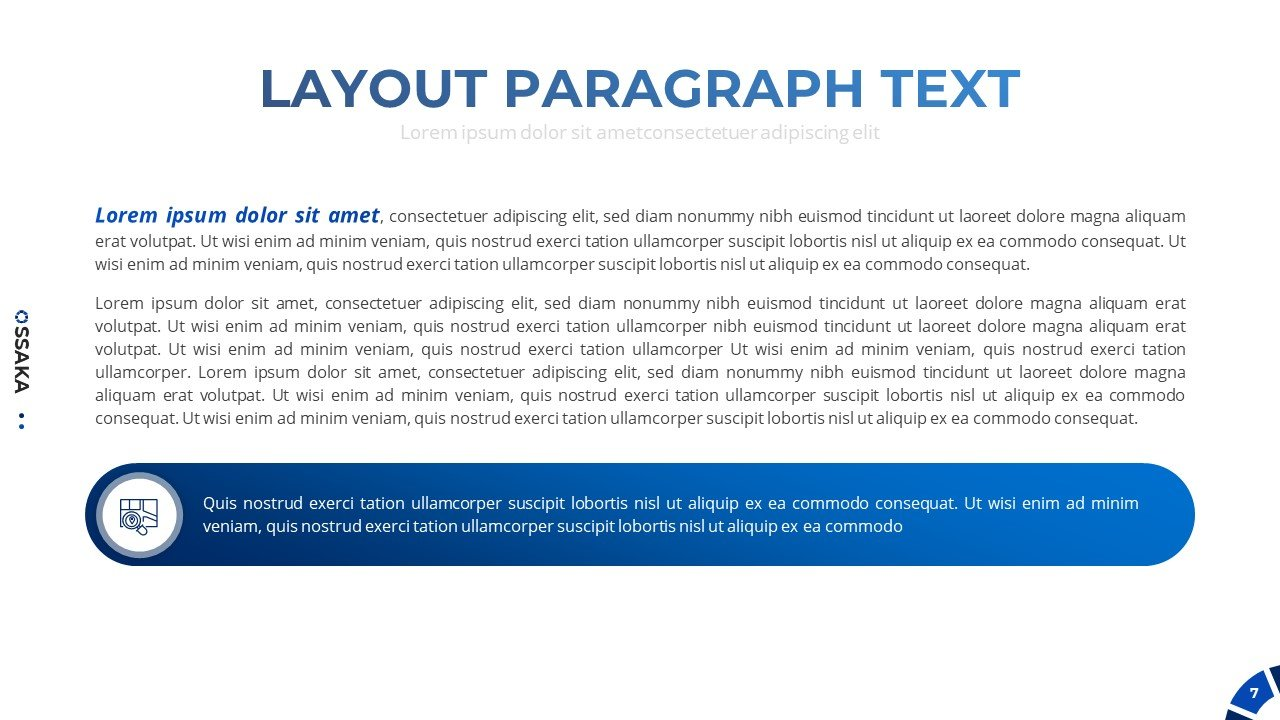 Special slide for text.