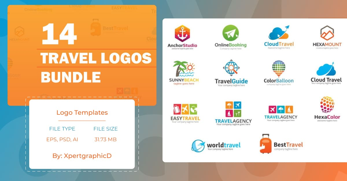 A collection of logos for the tourism business.
