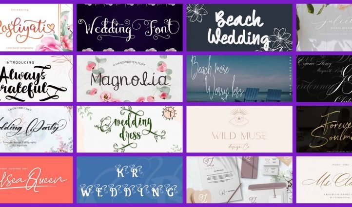 best fonts for wedding invitations Example.