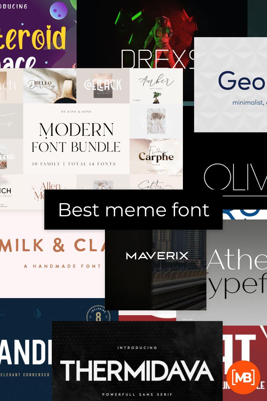 Meme fonts Pinterest.