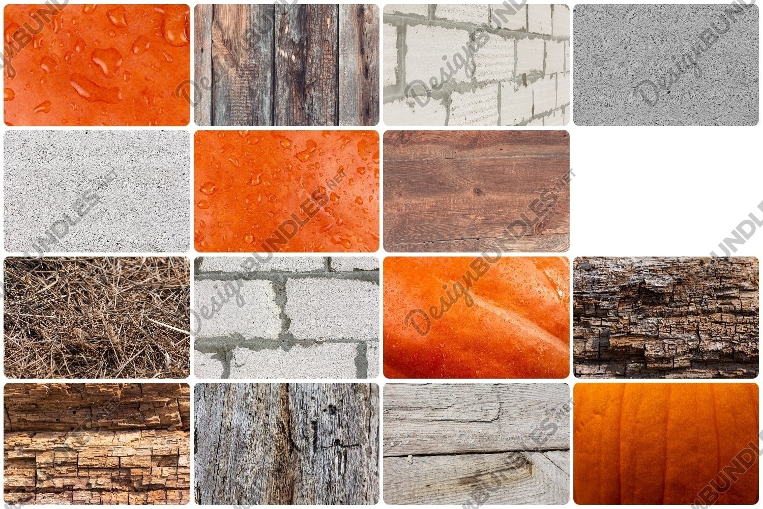 Natural backgrounds - hay, rough stone, wood, water, etc.