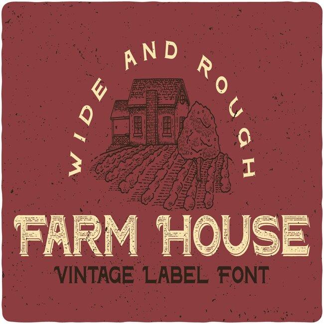 Farm House Typeface main cover.