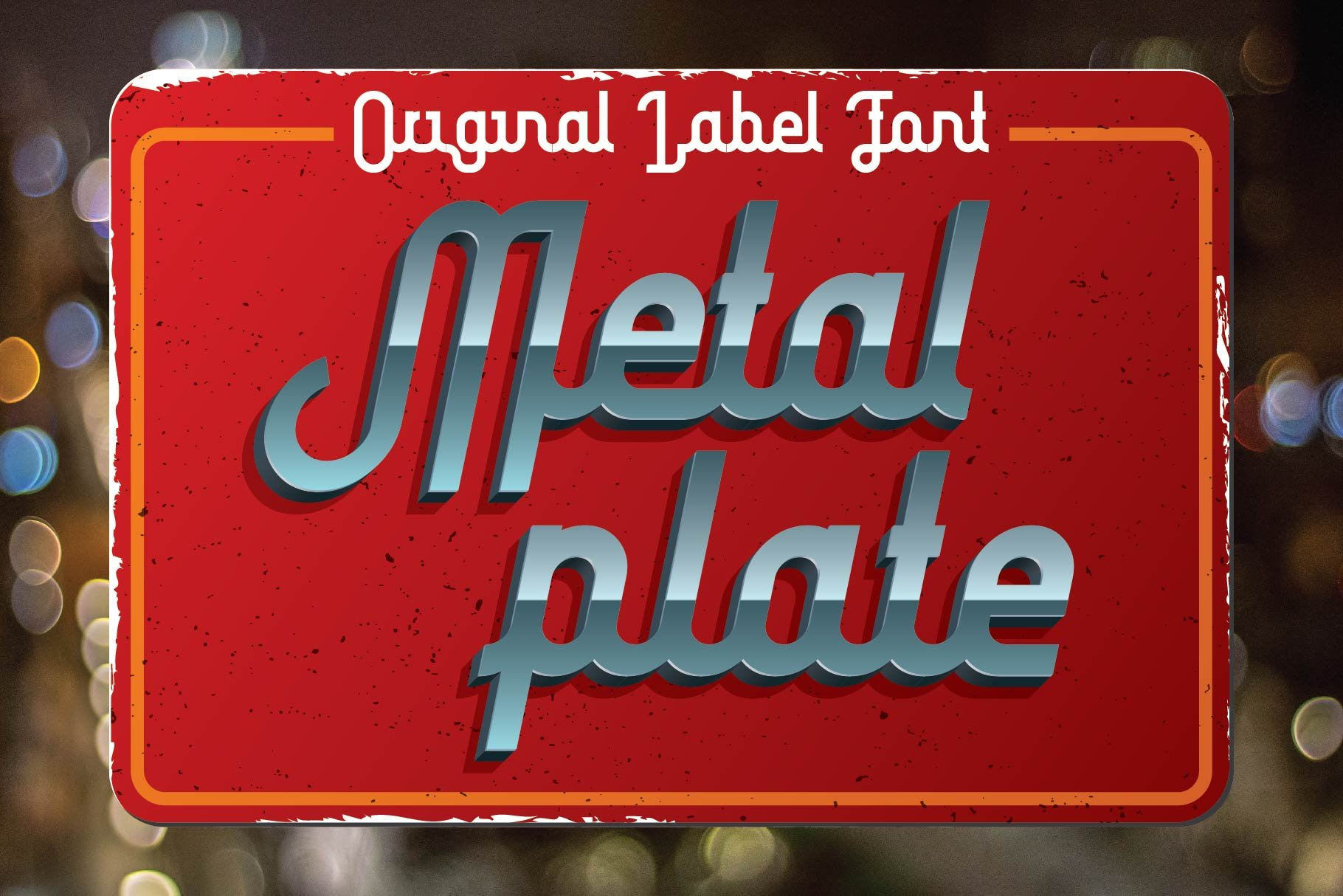 Stylish font on a velvet red substrate in the style of the movie Fast and the Furious.