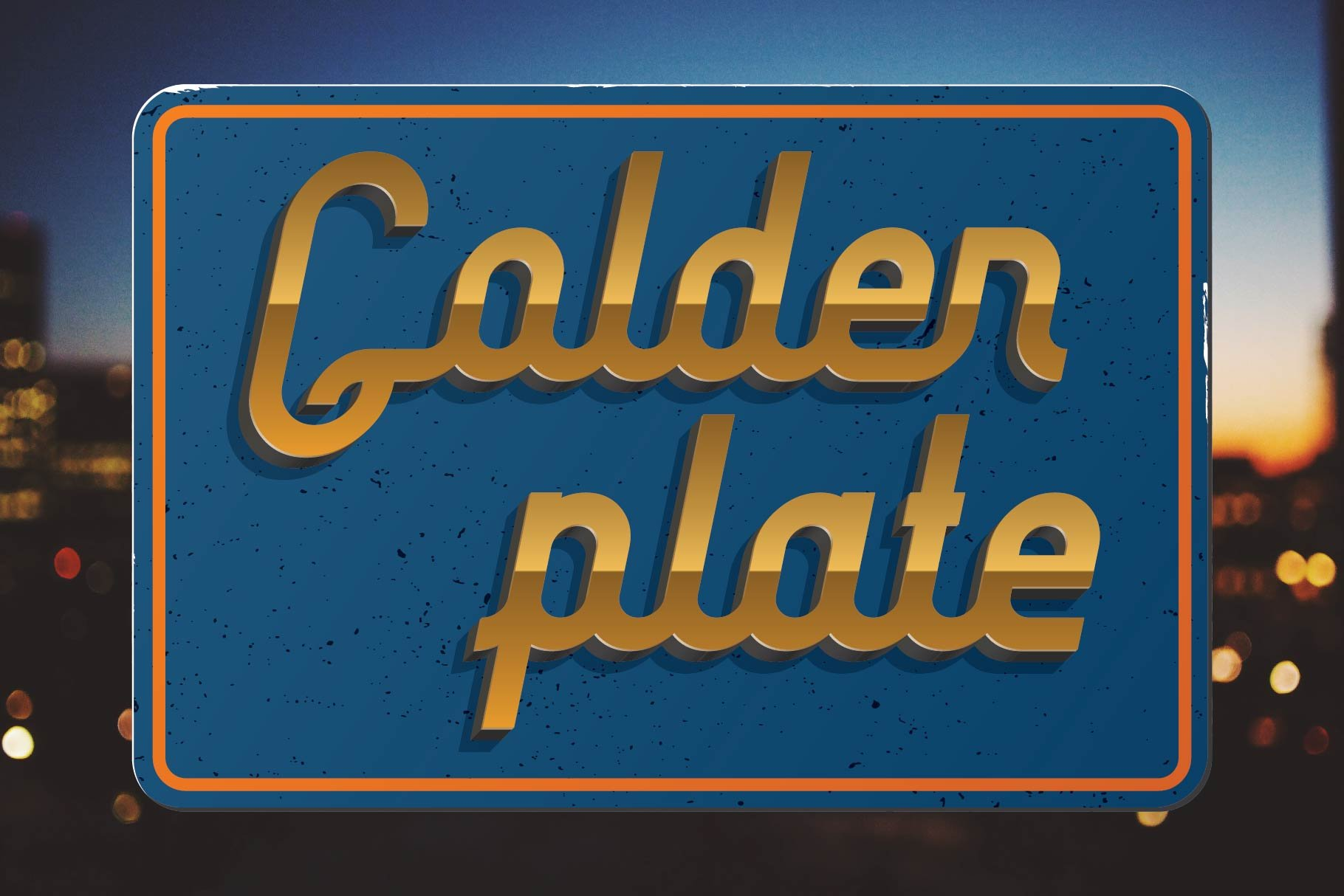 The classic combination is a blue background and a gold font.