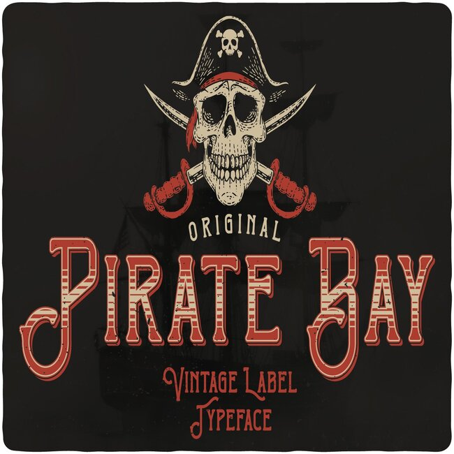 Pirate Bay Typeface Example.