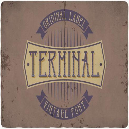 Terminal typeface Example.