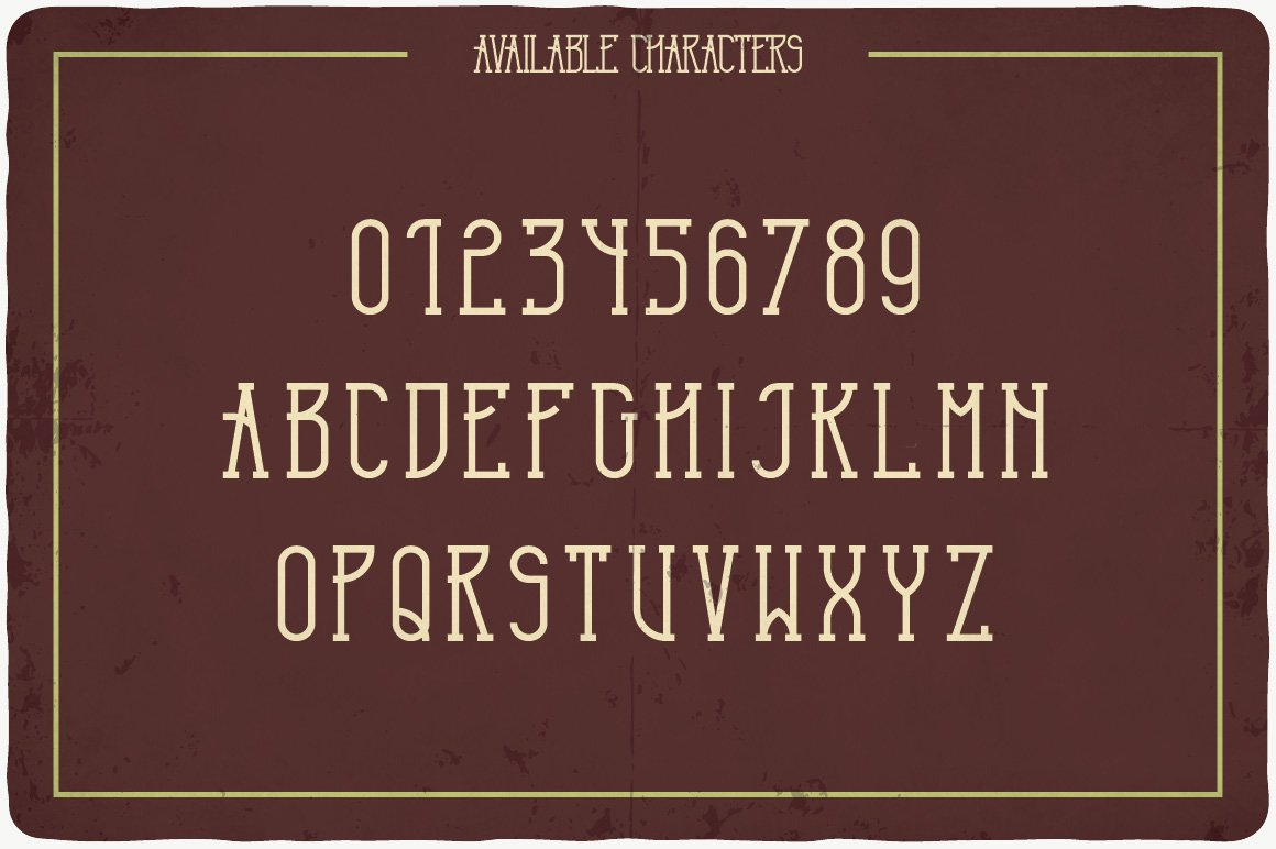 Available characters of Terminal Typeface.