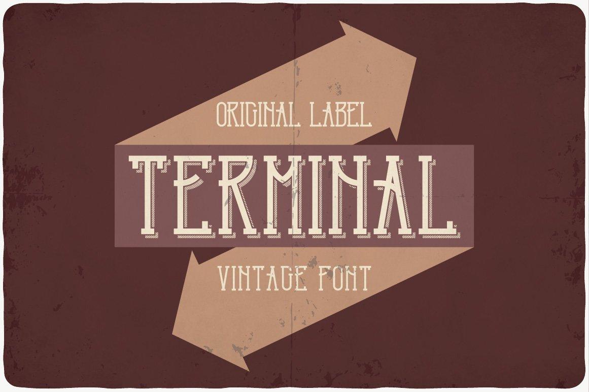 Original design with arrows and 3D font.