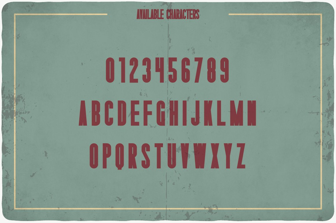Available characters of Tight Typeface.