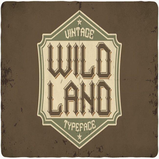 Wild Land Typeface Example.